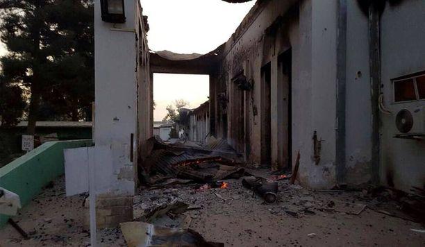 Tältä avustusjärjestön sairaala näyttää pommitusten jälkeen.
