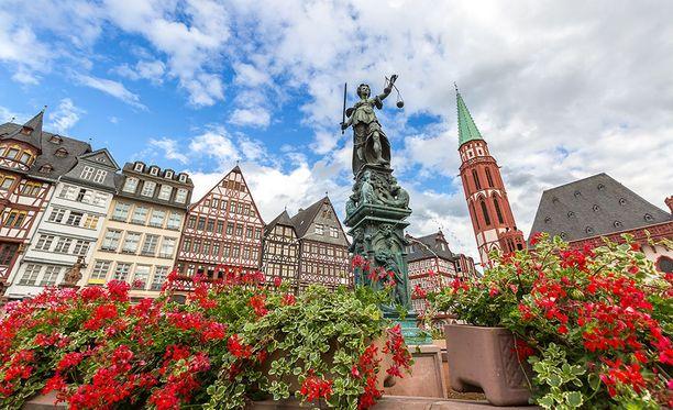 Frankfurtin vanhaa kaupunkia.