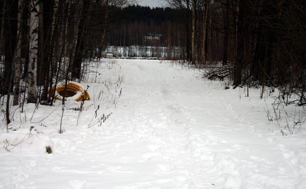 Iidesjärven ranta joulukuussa 2017.