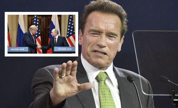Entinen kuvernööri Arnold Schwarzenegger laukoi suorat sanat presidenttien tapaamiselle.