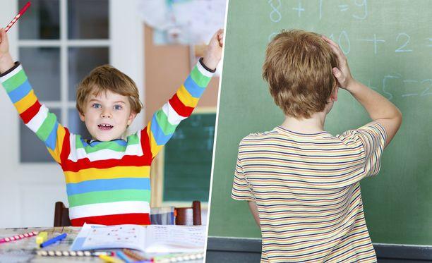 Etäopetus voi olla toiselle lapselle ilo, toiselle taas kauhistus. Kuvituskuva.