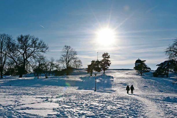 Hyvässä lykyssä helmikuussa nautitaan mahtavista talvikeleistä.