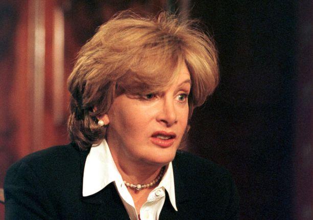 Presidentti Bill Clintonin ja Monica Lewinskyn seksisuhteen paljastanut Linda Tripp on kuollut. Kuva on vuodelta 2001.
