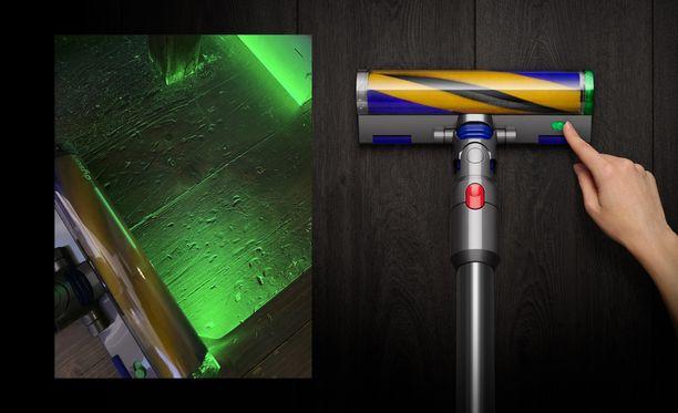 Laser paljastaa pölyn ja roskan.