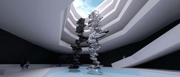 Maltan sydämen sisälle on suunniteltu monikerroksista näyttelytilaa.