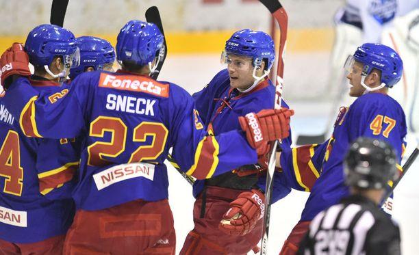KHL-Jokerien ensimmäistä maalia juhlittiin tänään Tikkurilassa.