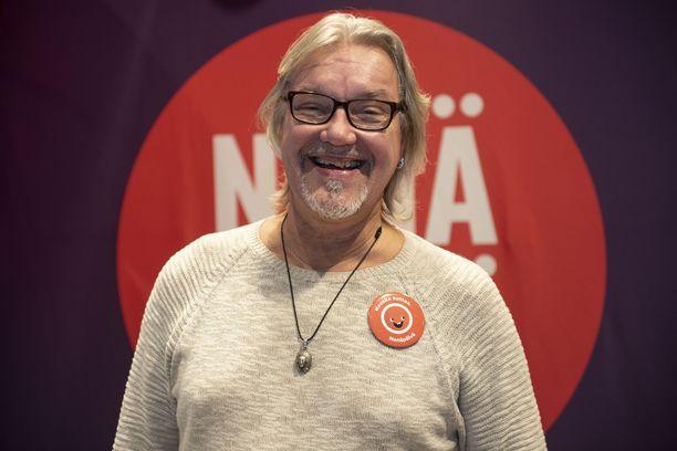 Juha Veijonen nähtiin Nenäpäivä-tilaisuudessa viime kuussa.
