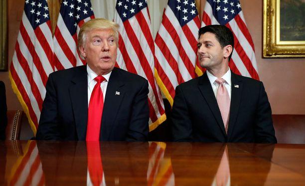 Donald Trumpin ja edustajainhuoneen republikaanijohtaja Paul Ryanin välit ovat jälleen lämmenneet.
