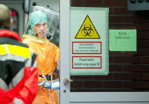 Saksalaissairaalassa Frankfurtissa hoidettiin viikonloppuna Ebola-epäilyä.