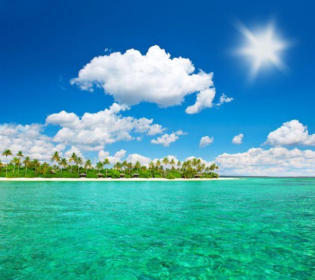 Malediiveillä vesi on kirkasta.