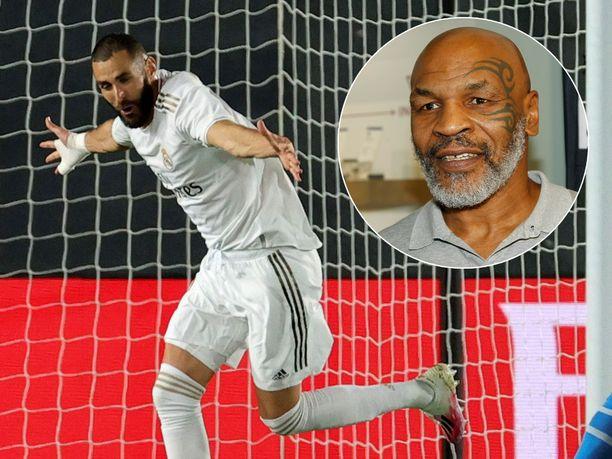 Karim Benzema kertoo ihailevansa nyrkkeilylegenda Mike Tysonia.