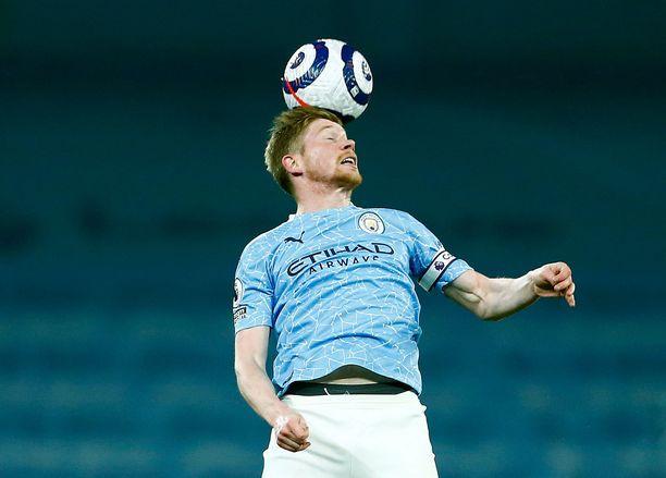 Kevin De Bruyne on palannut sairastuvalta Manchester Cityn avauskokoonpanoon.