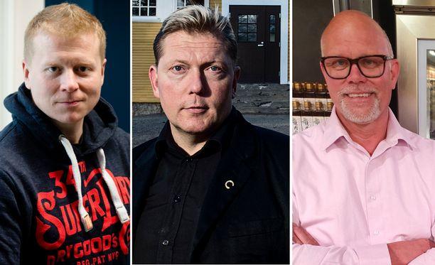 Sampo Kaulanen, Vesa Keskinen ja Markku Hautala tienasivat viime vuonna kauppiaina.