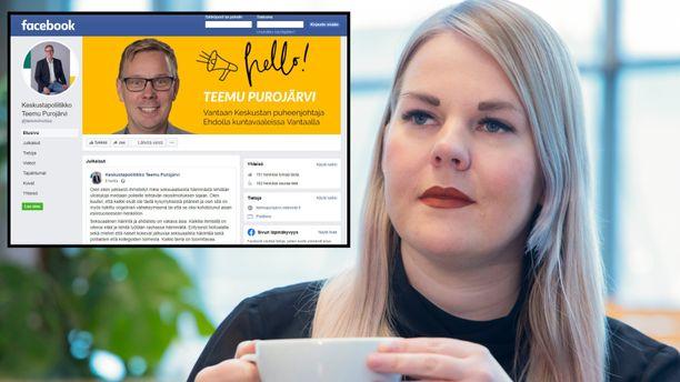 Alviina Alametsä aloitti europarlamentissa 2020. Teemu Purojärvi toimii keskustan Vantaan kunnallisjärjestön puheenjohtajana.
