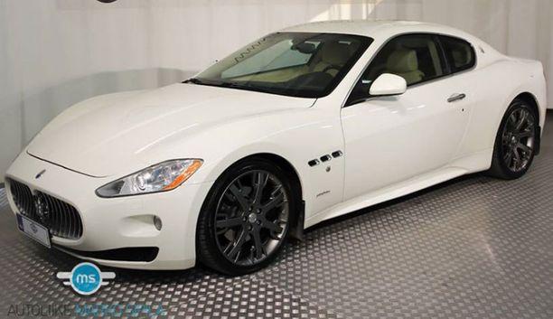 Valkoinen Maserati Granturismo on Ferrarin sukulaismalli Italiasta.