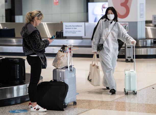 Kansalaisten paluu kotimaahan ei ole koskaan aikaisemmin ollut Australiassa rikollinen teko. Kuvituskuva Sydneyn lentoasemalta.
