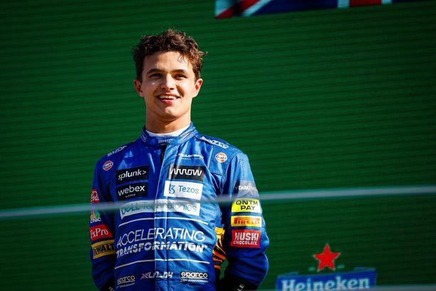 Lando Norris nousi toiselle korokkeelle Monzan GP:ssä.