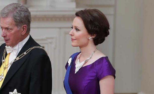 Tasavallan presidentti Sauli Niinistö ja rouva Jenni Haukio.