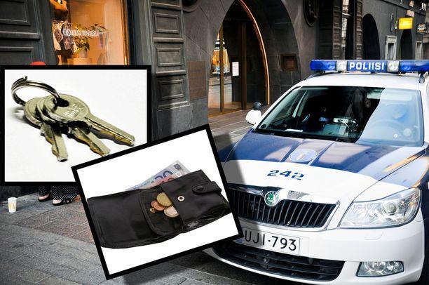 Kirjoituksessa huomautetaan, että löytäjä voi säilyttää löytynyttä omaisuutta vain poliisin luvalla. Kuvituskuva.