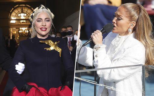 Lady Gaga ja Jennifer Lopez säteilivät Joe Bidenin virkaanastujaisissa – Lopezin esityksessä yllätys espanjaksi