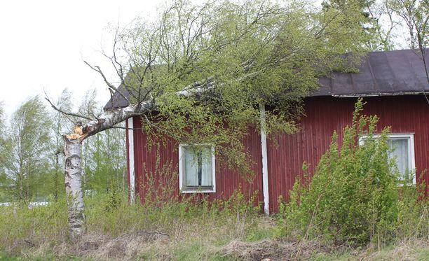 Lyyli-myrsky aiheutti lauantaina tuhojaan Lappajärvellä.