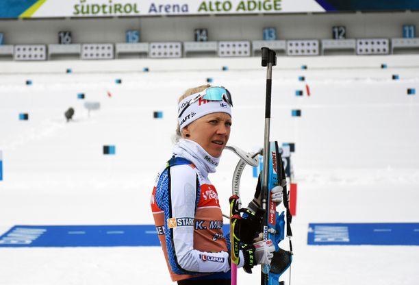 Ammunta oli Kaisa Mäkäräiselle vaikeaa Antholzin MM-kisoissa.
