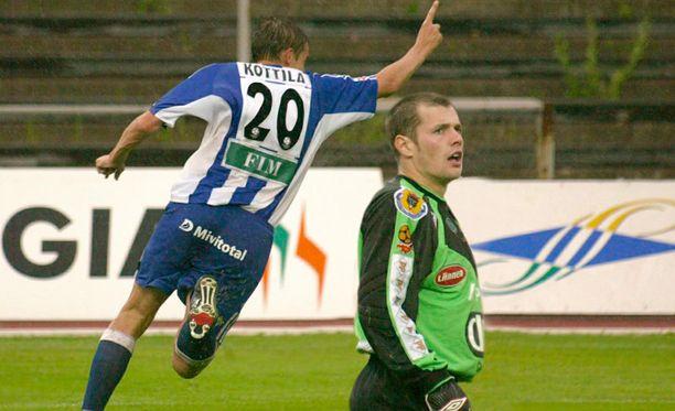 HJK:n Mika Kottila pelasi muillakin numeroilla kuin 20:llä.