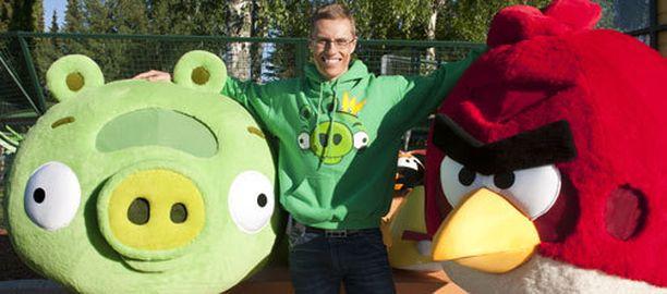 Alexander Stubb avasi Angry Birds -teemapuiston viime viikolla Tampereella.