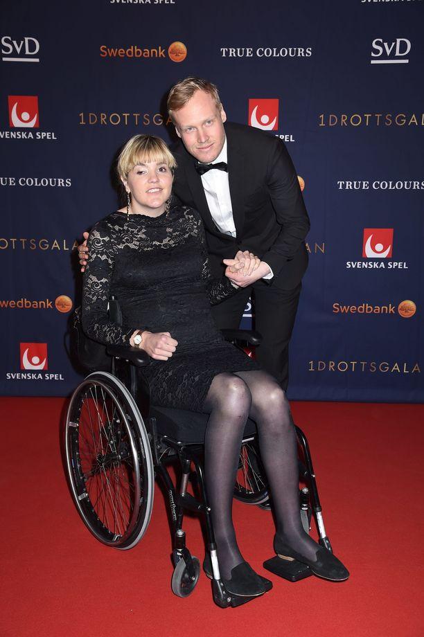 Anna Holmlund ja Victor Öhling Norberg  edustivat yhdessä Ruotsin urheilugaalassa tammikuussa.