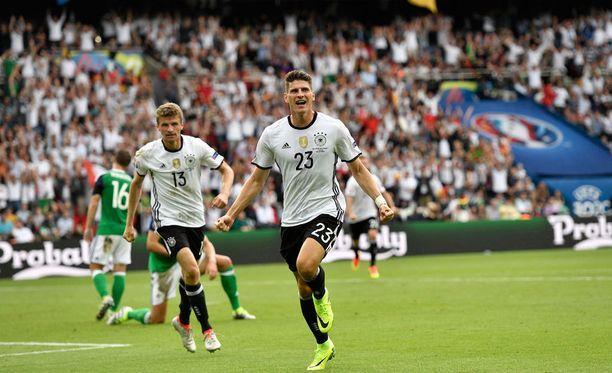 Mario Gomez teki lohkovoittoon riittäneen osuman Saksalle.