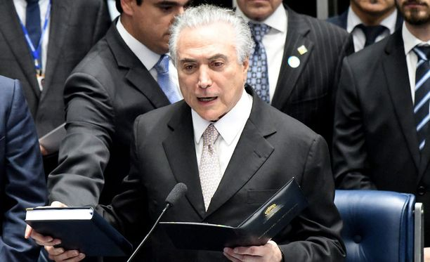 Brasilian tuore presidentti Michel Temer lupasi virkaanastujaispuheessaan uudistuksia.