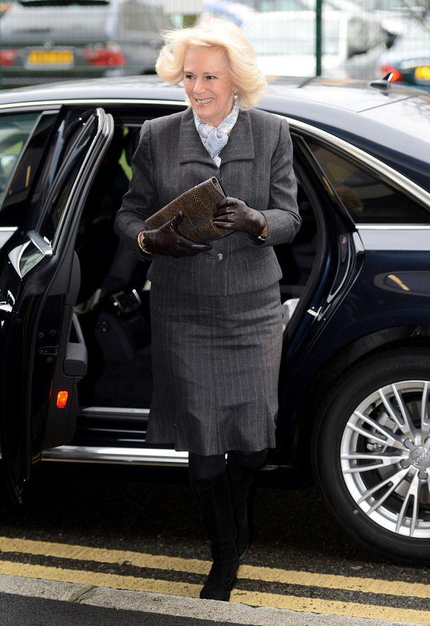 Vielä saapuessaan Camilla oli iloisissa tunnelmissa.
