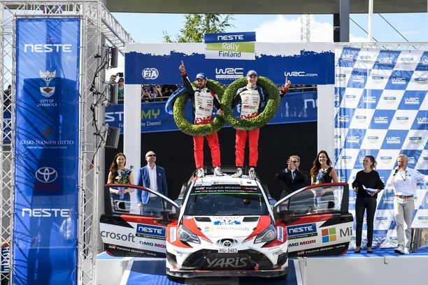 Esapekka Lappi on noussut MM-sarjassa kerran korkeimmalle korokkeelle: Vuonna 2017 Jyväskylässä ensimmäisellä Toyota-kaudellaan.