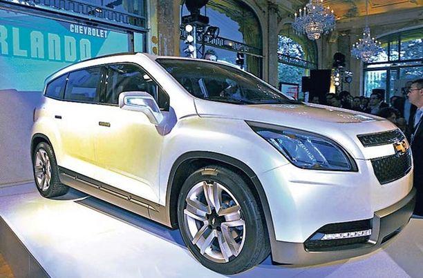 Tällainen Chevrolet Orlando esiteltiin syksyllä 2008.