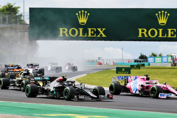 Bottas joutui takaa-ajajaksi koko kilpailun ajaksi.