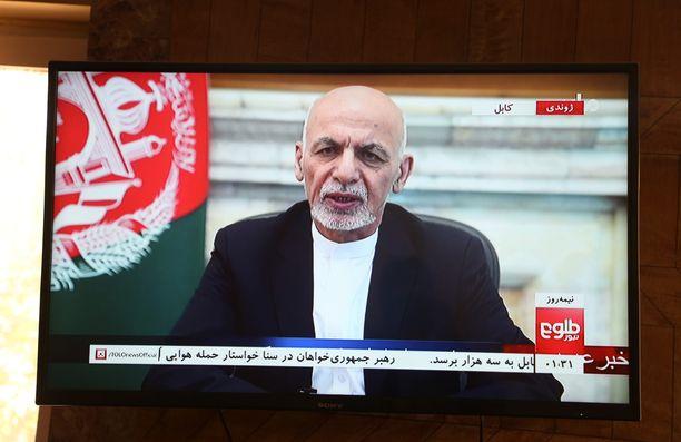Presidentti Ashraf Ghani poistui Talibanin tieltä. Arkistokuva.