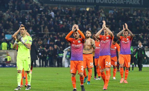 Manchester City suuntaa kohti Mestarien liigan neljännesvälierää.