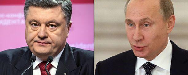 Ukrainan Poroshenko ja Venäjän Putin eivät löytäneet yhteistä säveltä.
