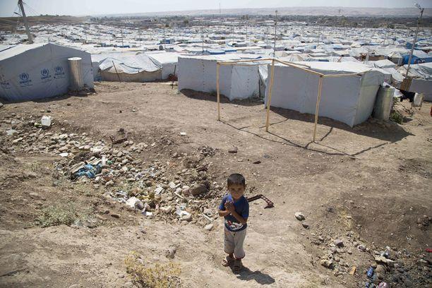 Pakolaisleiri Irakin Erbilissä kesällä 2014.