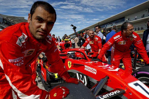 Ferrarin mekaanikot onnistuivat USA:n GP:ssä.