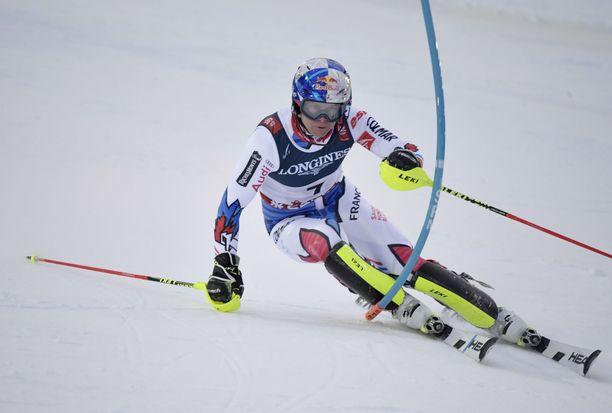 Alexis Pinturault voitti alppiyhdistetyn MM-kultaa.
