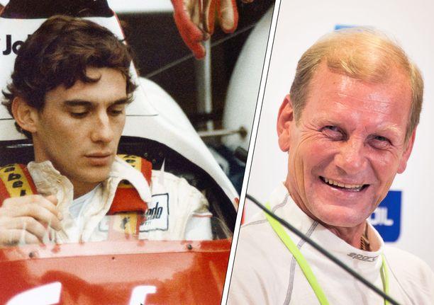 Ayrton Senna ja Juha Kankkunen tapasivat monta kertaa.