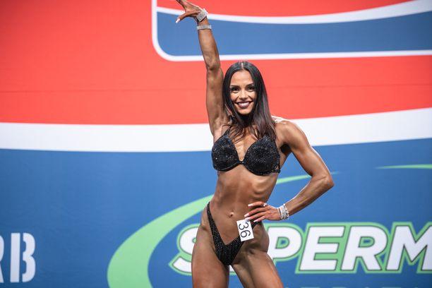 Ilona Siekkinen Nordic Fitness Expon lavalla lokakuussa.