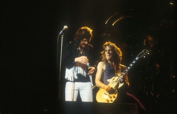 Ozzy ja Randy vuonna 1980 Lontoon Hammersmithissä.