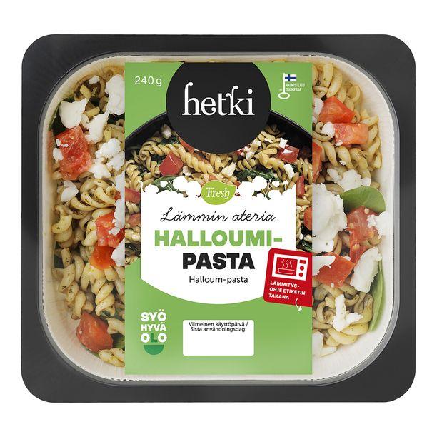 Lounasaikaa tuskin malttaa odotella, kun jääkaapissa odottaa Hetki Lämmin ateria Halloumi-Pasta.