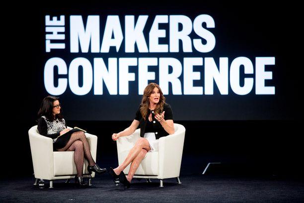 Caitlyn Jenner Makers-konferenssin lavalla tiistaina.