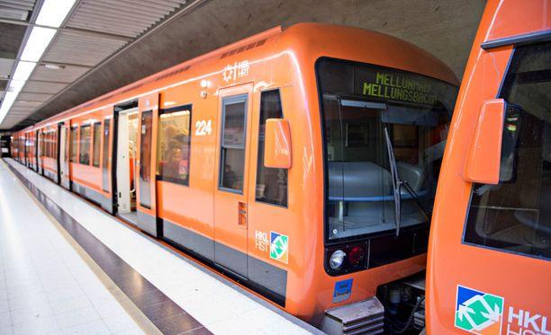 Metron kulussa oli katkos sunnuntaina. Kuvituskuva.