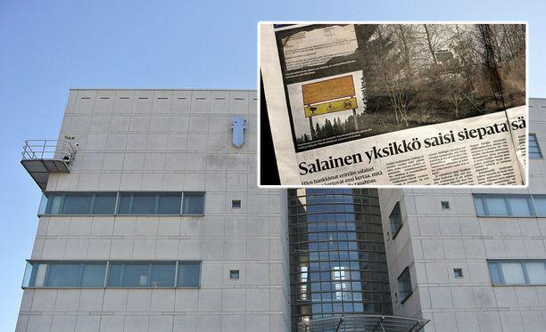 Poliisin joulukuussa suorittama kotietsintä liittyi HS:n artikkeliin puolustusvoimien Viestikoekeskuksen toiminnasta.