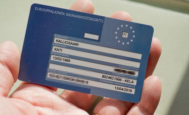 Suomalaiset ovat hakeneet Eurooppalaista sairaanhoitokorttia laiskasti.