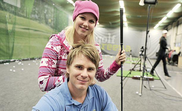 Minea Blomqvist ja Roope Kakko ovat Suomen tunnetuin golfpari.
